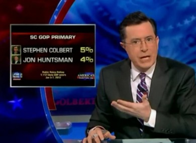 Colbert responding to poll result on Wednesday