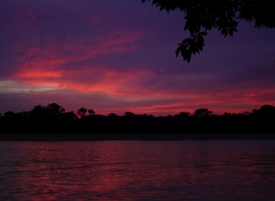 The sunset in Tortuguero in Costa Rica. Joan Barnett had been holidaying in the central American country.