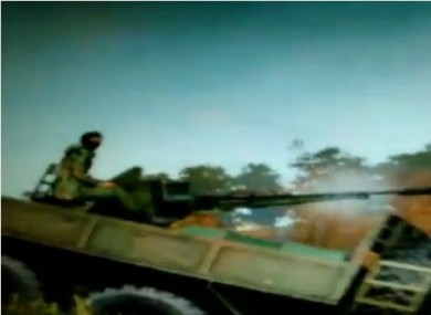 A screengrab of the videogame footage shown in the ITV documentary