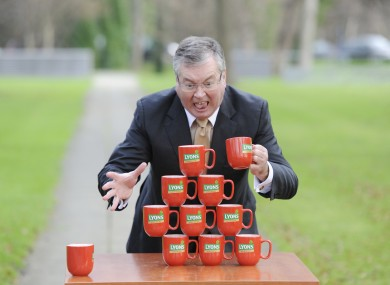 It's harder to find a photograph that sums up Irish things without being completely stereotypical. Hence Joe Duffy and some tea.