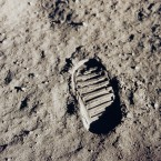 Another iconic Apollo 11 image: Buzz Aldrin's bootprint on the lunar surface. (NASA)