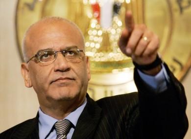 Palestinian negotiator Saeb Erakat