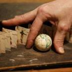 A Carl Bauer 2-inch terrestrial globe. (2009 auction)