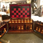 A late 19th century rosewood games compendium. (2010 auction)
