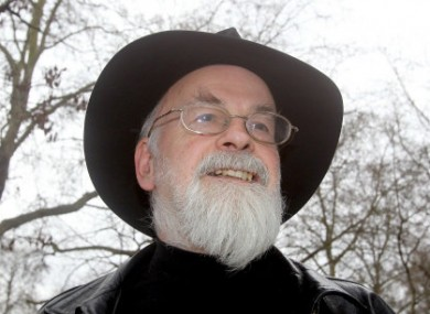 The author Terry Pratchett whose funding helped set up the commission.
