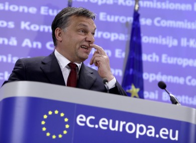 Victor Orban appears to have bowed to EU pressure and will ask parliament to vote on legal amendments next week.