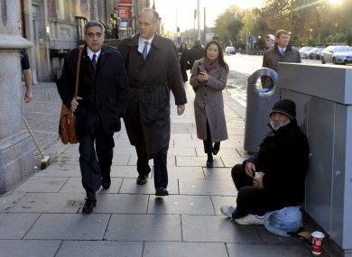 Ajai Chopra leads an IMF delegation to Dublin to negotiate the bailout in November 2010.