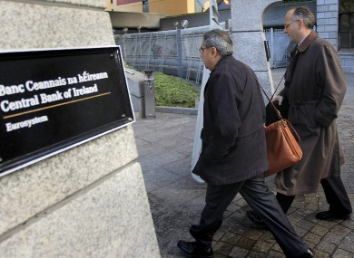 IMF official Ajai Chopra arrives at the Central Bank in November 2010