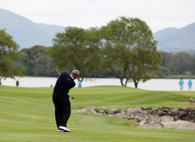 Darren Clarke at the 2011 Irish Open in Killarney