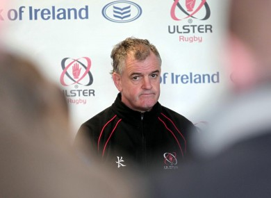 On the way? Ulster coach Brian McLaughlin (file photo).