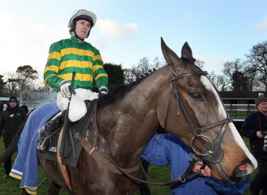 McCoy with Synchronised at the Leopardstown Festival last month.