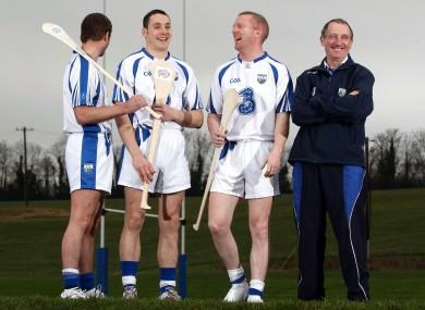 Waterford hurlers, Tony Browne, Shane O'Sullivan, John Mullane and manager Michael Ryan yesterday.