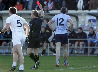 Dublin's Paul Brogan makes his way from the field.
