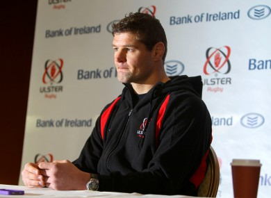 Johann Muller speaking to the media this morning.