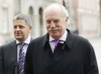 Founder of NCB Stockbrokers Dermot Desmond pictured arriving at the Moriarty Tribunal in 2010