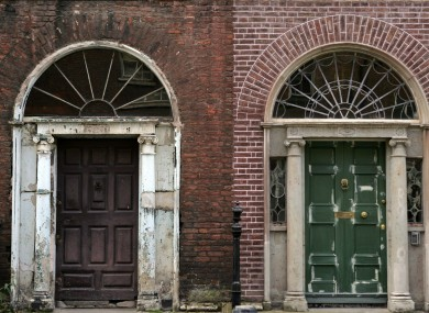 Derelict buildings on Henrietta St in Dublin, which have been bought by Dublin City Council under the Derelict Sites Act