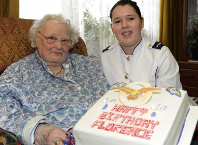 Florence Green on her 109th birthday in 2010