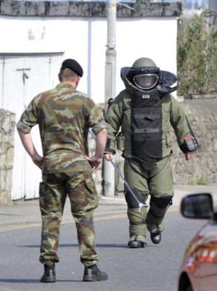 The Defence Forces' Army Bomb Disposal Team in action (File photo)