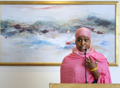 Anti-FGM campaigner Ifrah Ahmed speaking at a seminar in Dublin last year