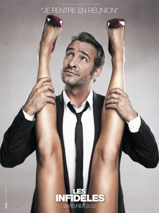 One of the posters for Les Infideles, starring Jean Dujardin.