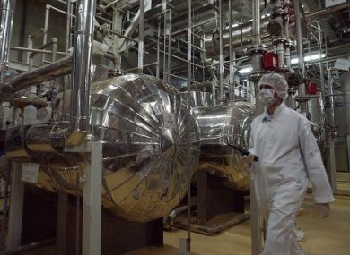 Inside the uranium conversion facility near Isfahan, Iran which processes uranium ore into gas for use in enrichment at a separate facility.