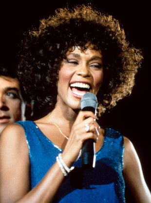 Whitney Houston on stage during her 1988 Moment of Truth tour.