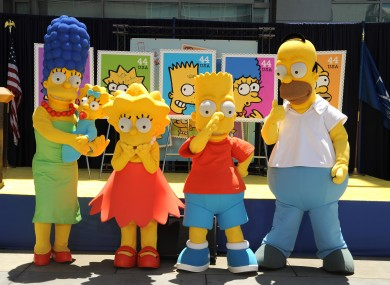 The Simpsons have been honoured on stamps in the US - but are now almost totally contraband in Iran.
