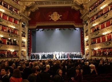 File photo of the La Scala theatre
