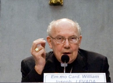Cardinal William Levada, pictured in 2009
