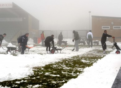 The London-Fermanagh match is not the only game to have been affected by the snow this weekend.