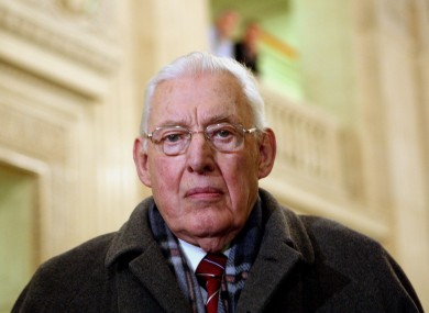 Ian Paisley Snr pictured in 2010
