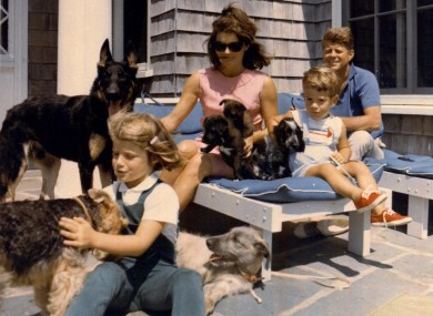 President Kennedy, Jacqueline and their children in an undated family photo.