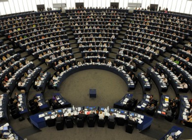The European Parliament's hemicycle in Strasbourg: members have voted, albeit narrowly, to consider plans which could abolish either the Strasbourg or Brussels chambers.