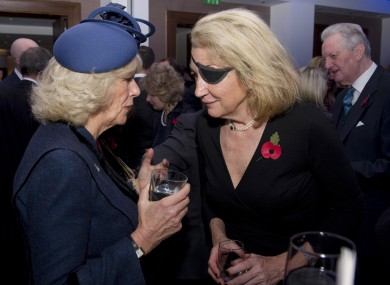 Marie Colvin (right), pictured with the Duchess of Cornwall in 2010.