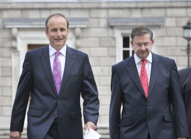 Micheál Martin and his deputy leader Éamon Ó Cuív may already be at odds over the Fiscal Treaty referendum.