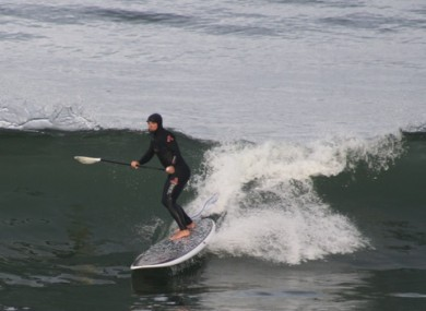 Paul surfing in Strandhill last November.