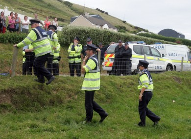 Gardaí at a Shell to Sea protest in 2009.