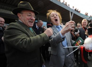 Richard Pitman (left) with comedian Ken Dodd.