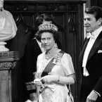 A month earlier, President Ronald Reagan had made an official visit. The two became quite close, though the Queen was said to be angered when Reagan ordered the US invasion of Grenada, one of her Commonwealth territories, without prior notification in 1983.