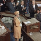 Later that week Elizabeth became the first UK monarch to address the Joint Houses of Congress. She opened her remarks with the comment,