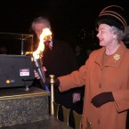 The Queen took a hands-on role in the millennium festivities: igniting a laser which then lit up the Millennium Beacon in London. She was among the guests who rang in the New Year at the Millennium Dome, now The O2, in Greenwich.