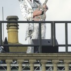 ...nor Queen guitarist Brian May playing the national anthem on an electric guitar from the roof of the royal residence. As you do.
