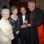 The Queen had become firm friends with President Mary McAleese during her own tenure as Ireland's head of state. The two had first met in 1999 and are here pictured in 2005 alongside Dr Martin McAleese, now a member of the Seanad, and the then-Archbishop of Westminster, Cardinal Cormac Murphy O'Connor.