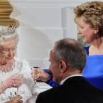 The second night of the Queen's visit included an official State Dinner - where the Queen historically opened her speech with five words of Irish: