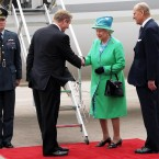 Taoiseach Enda Kenny says goodbye to the Queen and Duke of Edinburgh as they depart from Cork Airport at the end of their four-day visit.