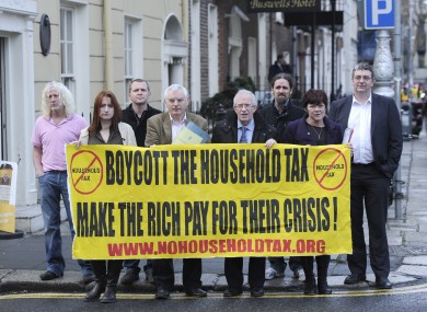 TDs earlier this week calling for a boycott of the household charge