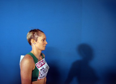 Derval O'Rourke at last year's European Indoor Championships (file photo).