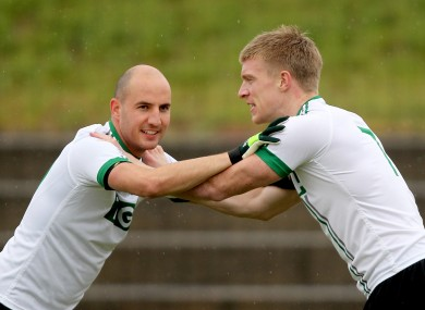 Tadhg Kennelly and Tommy Walsh in training (file photo).