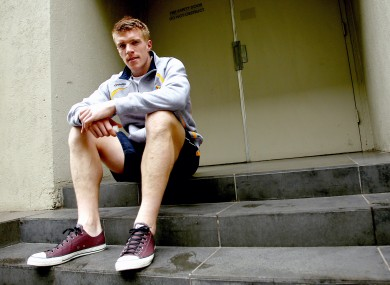 Tommy Walsh, pictured during a break from training with the Irish International Rules team last October.