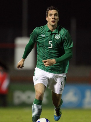 Duffy in action for the U21s last November.